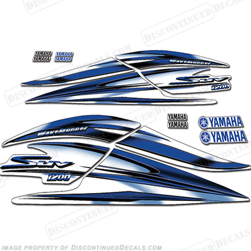 Yamaha 2000-2003 1200 SUV Decal Kit - Blue