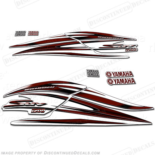 Yamaha 2000 1200 SUV Decal Kit - Maroon