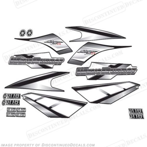 Yamaha 2001 GP1200R PWC Decals - Black/Silver