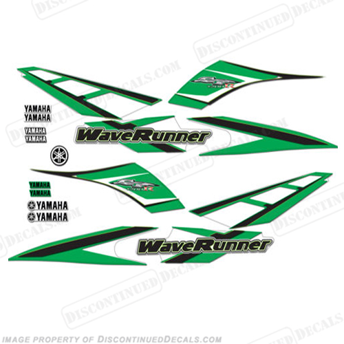 Yamaha 2001 GP1200R PWC Decals - Green