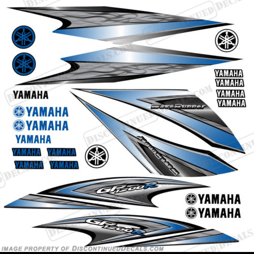 Yamaha 2005 GP1200R PWC Decals - Blue