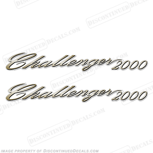 SeaDoo Challenger 2000 Decals (Set of 2)
