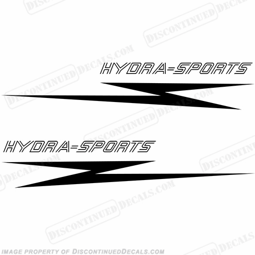 Hydra-Sports Boat Logo Decal - Any Color! (Set of 2)