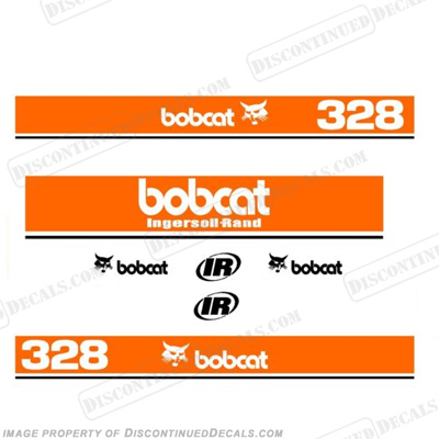 Bobcat 328 Mini Excavator Decals