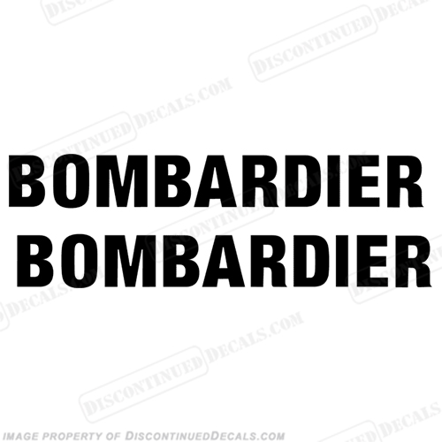 SeaDoo Bombardier Decals - Set of 2