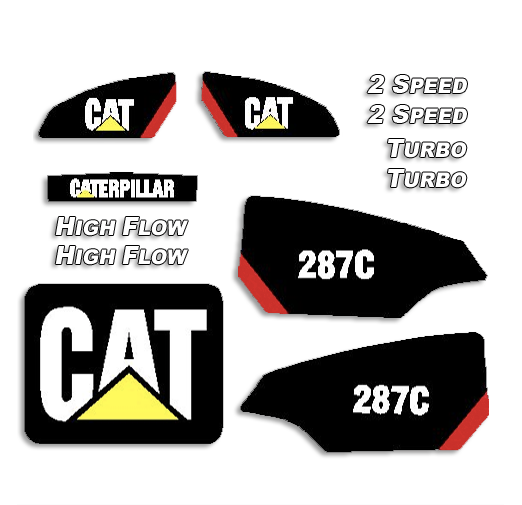 Caterpillar 287C Decal Kit