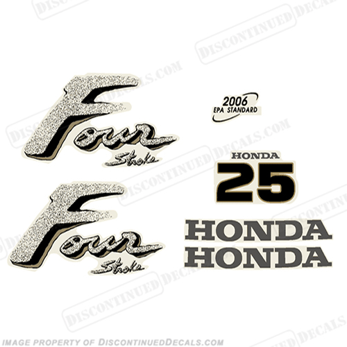 Honda 25hp Outboard Engine Decals