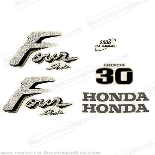 Honda 30hp Outboard Engine Decals