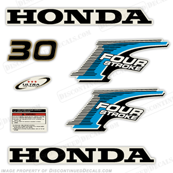 New! Honda 30hp 4-Stroke Decal Kit