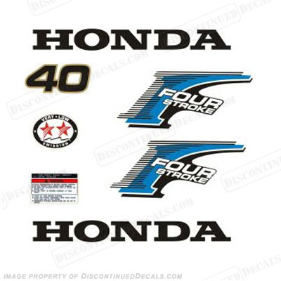 New! Honda 40hp 4-Stroke Decal Kit