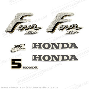 Honda 5hp 4-Stroke Decal Kit