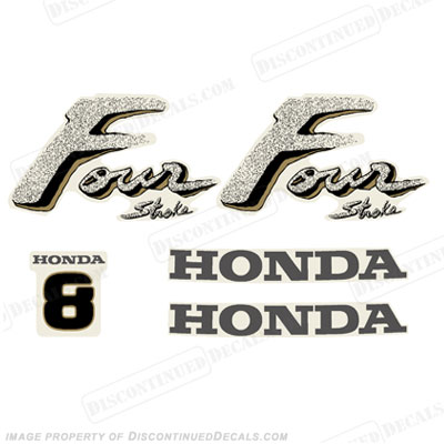 Honda 8hp 4-Stroke Decal Kit - Older Style