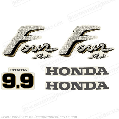 Honda 9.9hp 4-Stroke Decal Kit - Older Style