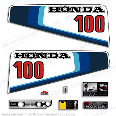 Honda 10hp (100) Decal Kit - 1982