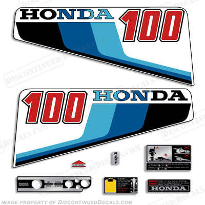 Honda 10HP (100) Decal Kit - 1983