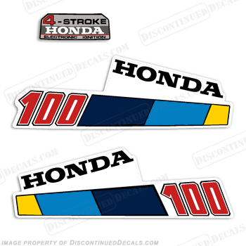 Honda 10HP 4-Stroke Decal Kit - 1985 - 1986