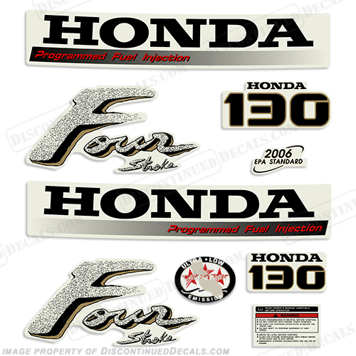 Honda 130hp 4-Stroke Decal Kit