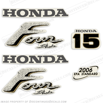 Honda 15hp 4-Stroke Decal Kit - Older Style