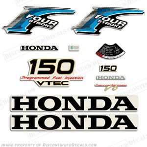 Honda 150hp 4-Stroke Decal Kit