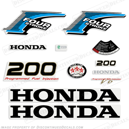 Honda 200hp 4-Stroke Decal Kit