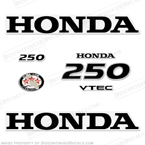 Honda 250hp V-Tec Decal Kit