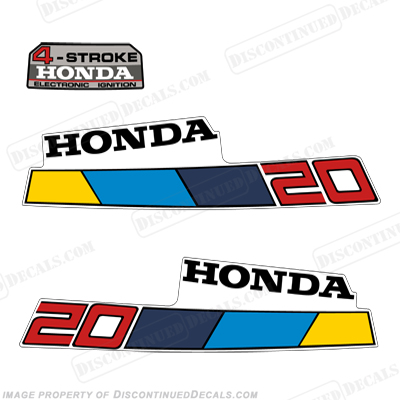 Honda 2HP 4-Stroke Decals - 1985 - 1986