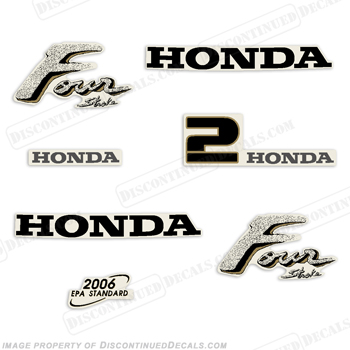 Honda 2hp 4-Stroke Decal Kit - Older Style