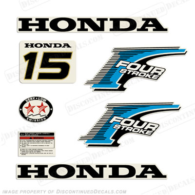 Honda 15hp 4-Stroke Decal Kit - New Style