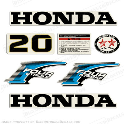 Honda 20hp 4-Stroke Decal Kit