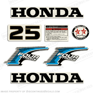 Honda 25hp 4-Stroke Decal Kit