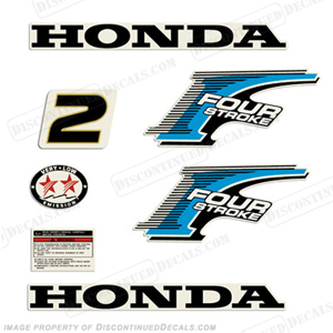 Honda 2hp 4-Stroke Decal Kit - New Style