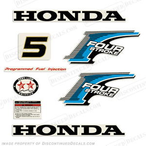 Honda 5hp 4-Stroke Decal Kit - New Style