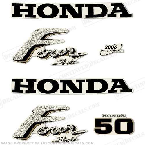 Honda 50hp Outboard Engine Decals