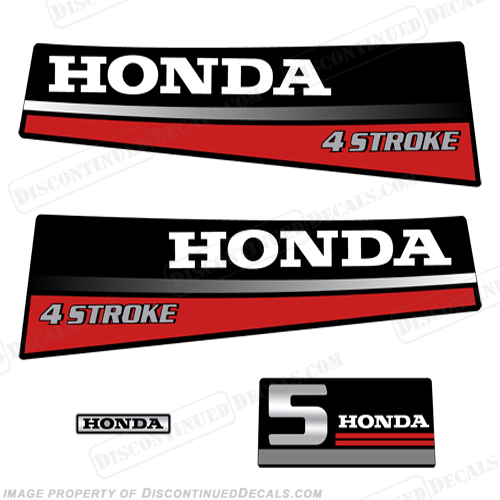 Honda 5hp 4-Stroke Decal Kit - 1987 - 1989