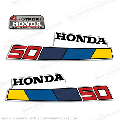 Honda 5HP 4-Stroke Decals - 1985 - 1986