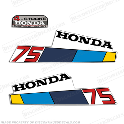Honda 7.5HP 4-Stroke Decals - 1985 - 1986