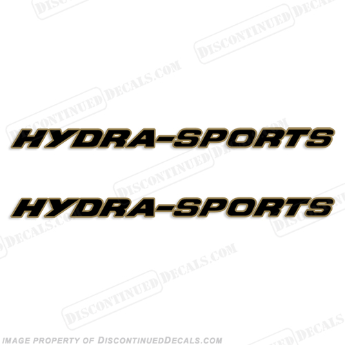 Hydra-Sports Boat Logo Decal 2-Color (set of 2)