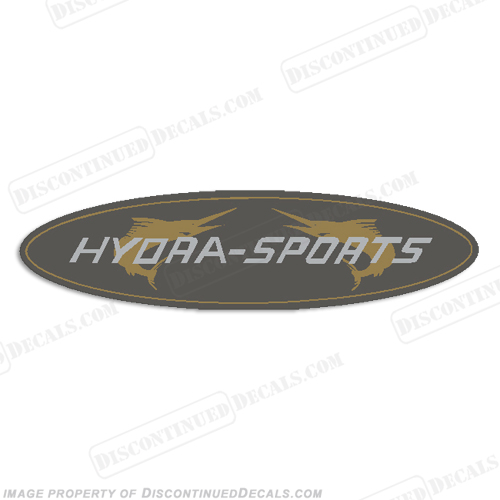 "Hydra-Sports Boat Oval Logo Decal - 6"" long"