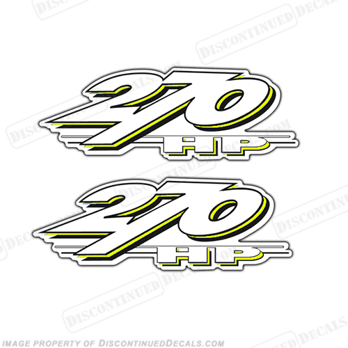 Yamaha LS2000 270hp Decals (Set of 2) - Yellow