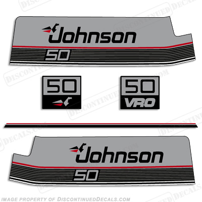 Johnson 1987-1988 50hp VRO Decals