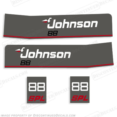 Johnson 1988 88hp SPL Decals