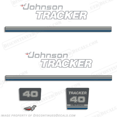 Johnson 1992-1993 Tracker 40hp Decal Kit - Blue
