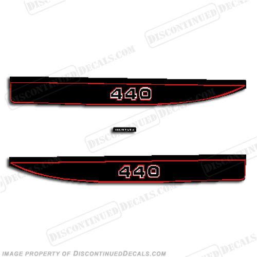 Kawasaki 440 Snowmobile Decals