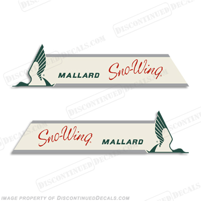 Mallard Sno-Wing Decals