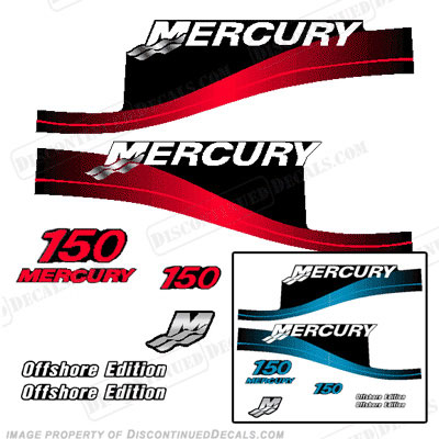 Mercury 150hp Offshore Decal Kit