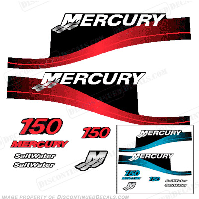 Mercury 150hp Saltwater Decal Kit