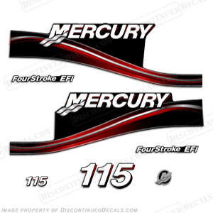 "Mercury 115hp ""Fourstroke EFI"" Decals - 2005"
