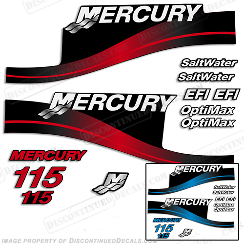 Mercury 115hp EFI/Optimax Decal Kit