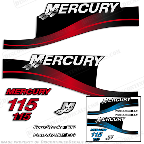 Mercury 115hp 4-Stroke EFI Decal Kit