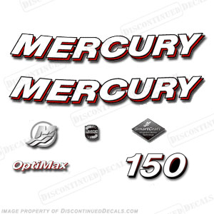 "Mercury 150hp ""Optimax"" Decals - 2006"